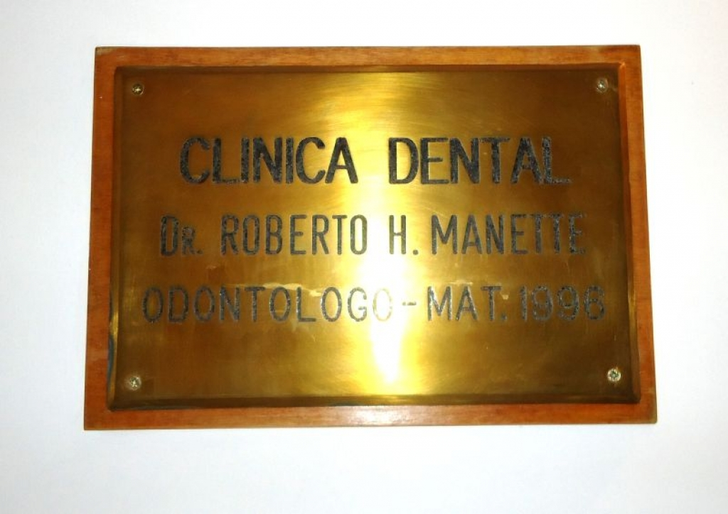 Placa Clínica Dental Roberto Manette
